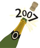 Neues Jahr Champagne Stockfoto