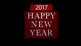 Neues Jahr Count-down 2017 mit Feuerwerken stock video