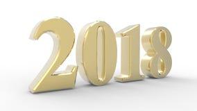 Neues Jahr 2018 3d Stockfotos