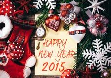 Neues Jahr-Dekoration Stockfotos