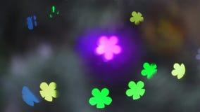 Neues Jahr-Dekorations-Weihnachtsbaum Garland Lights stock footage