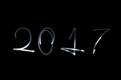 Neues Jahr in der Art Freezelight Stockbilder