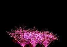 neues Jahr der Feuerwerke feiern - schönen bunten Feuerwerksisolator Lizenzfreies Stockbild