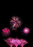 neues Jahr der Feuerwerke feiern - schönen bunten Feuerwerksisolator Stockfotos