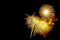 neues Jahr 2017 der Feuerwerke - schönes buntes Feuerwerk Stockfotos