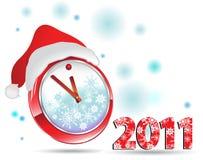 Neues Jahr der Uhr Stockfoto