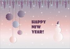 Neues Jahr 2018 des Schneemannes Stockbild