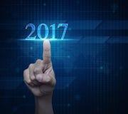 Neues Jahr 2017, Elemente dieses Bildes geliefert von der NASA Stockfotos