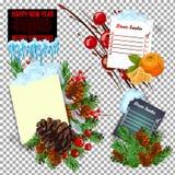 Neues Jahr-Entschließung und Ziele übergeben geschrieben auf Lockenpapier Getrennt auf Weiß Stockfotos