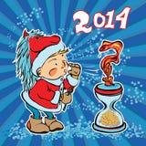 Neues Jahr ersetzt das alte Jahr Vektor Abbildung