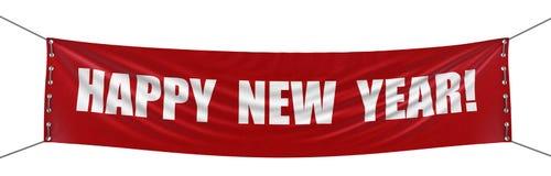 Neues Jahr Fahne (Beschneidungspfad eingeschlossen) Stockfotos