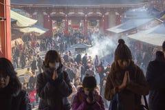 Neues Jahr Feier in Tokyo, Japan Stockfotos