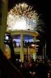 2015 neues Jahr-Feuerwerke in Cape Town Lizenzfreie Stockfotografie