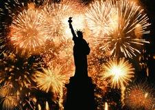 Neues Jahr-Freiheitsstatue Lizenzfreies Stockbild