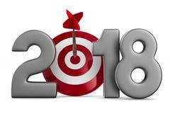 2018 neues Jahr Getrenntes 3D Lizenzfreies Stockfoto