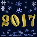 Neues Jahr Gold 2017 vektor abbildung