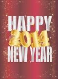 Neues Jahr Goldene 2014 Lizenzfreie Stockfotos