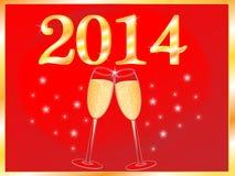 Neues Jahr-Hintergrund stock abbildung