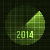 Neues Jahr-Hintergrund. Sonar, 2014. Kartenschablone für Text Lizenzfreies Stockfoto