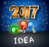 2017 neues Jahr Infographic und Unternehmensplan-Hintergrund stock abbildung