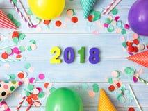 Neues Jahr 2018 ist kommendes Konzept Lizenzfreies Stockfoto