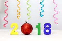Neues Jahr 2018 ist kommendes Konzept Stockfoto