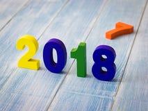 Neues Jahr 2018 ist kommendes Konzept Lizenzfreie Stockfotos