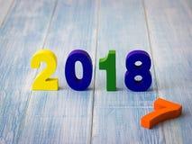Neues Jahr 2018 ist kommendes Konzept Lizenzfreie Stockfotografie