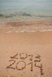 Neues Jahr 2014 ist kommendes Konzept Lizenzfreies Stockbild
