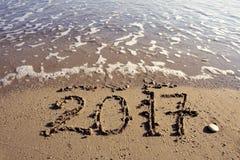 Neues Jahr 2017 ist kommendes Konzept Lizenzfreies Stockbild