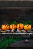 Neues Jahr 2017 ist kommendes Konzept Stockbild
