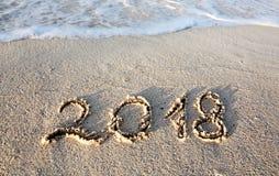 Neues Jahr 2018 ist kommendes Konzept Stockfotografie