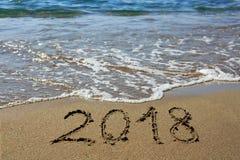Neues Jahr 2018 ist kommendes Konzept Stockbilder