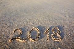Neues Jahr 2018 ist kommendes Konzept Lizenzfreies Stockbild