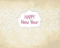 Neues Jahr-Karte stock abbildung