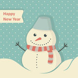 Neues Jahr-Karte lizenzfreie abbildung