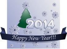 Neues Jahr-Karte gemacht in der flachen Art Stockbild