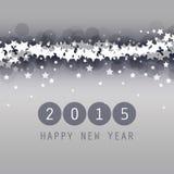 Neues Jahr-Karten-, Abdeckungs-oder Hintergrund-Schablone - 2015 Lizenzfreies Stockfoto