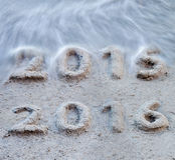 Neues Jahr 2016 kommt Stockbild
