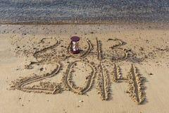Neues Jahr kommt, Rotes Meer, Elat Stockbild
