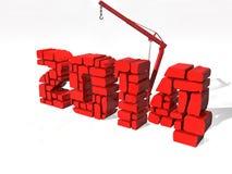 Neues Jahr 2014, lokalisiert vom Hintergrund stock abbildung