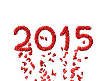 Neues Jahr 2015 machte von den Herzen Stockfotografie