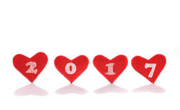 Neues Jahr 2017 mit Liebe Stockfotos