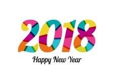 2018 neues Jahr mit Prächtigen Farben Gemischte flache Farben Vektor Abbildung