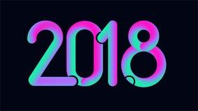 2018 neues Jahr Netz, typografisches Feiertagsdesign Stockbilder
