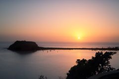 Neues Jahr-neuer Tag - Sonnenaufgang 2015 Stockfotos
