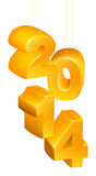 Neues Jahr oder Weihnachten 2014 Verzierungen Stockbilder