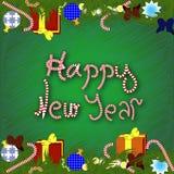 Neues Jahr oder Weihnachtshintergrund Stockfotografie