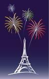 Neues Jahr in Paris Stockbilder