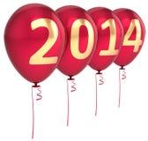 Neues Jahr-Partei 2014 steigt frohe Weihnachten im Ballon auf lizenzfreie abbildung